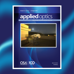 Cover in Applied Optics